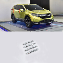 Car Accessories Exterior Decoration ABS Chrome LHD Car Door Handles Cover Trim For Honda CRV 2018 Car Styling car accessories exterior decoration abs chrome lhd car door handles cover trim for honda crv 2018 car styling