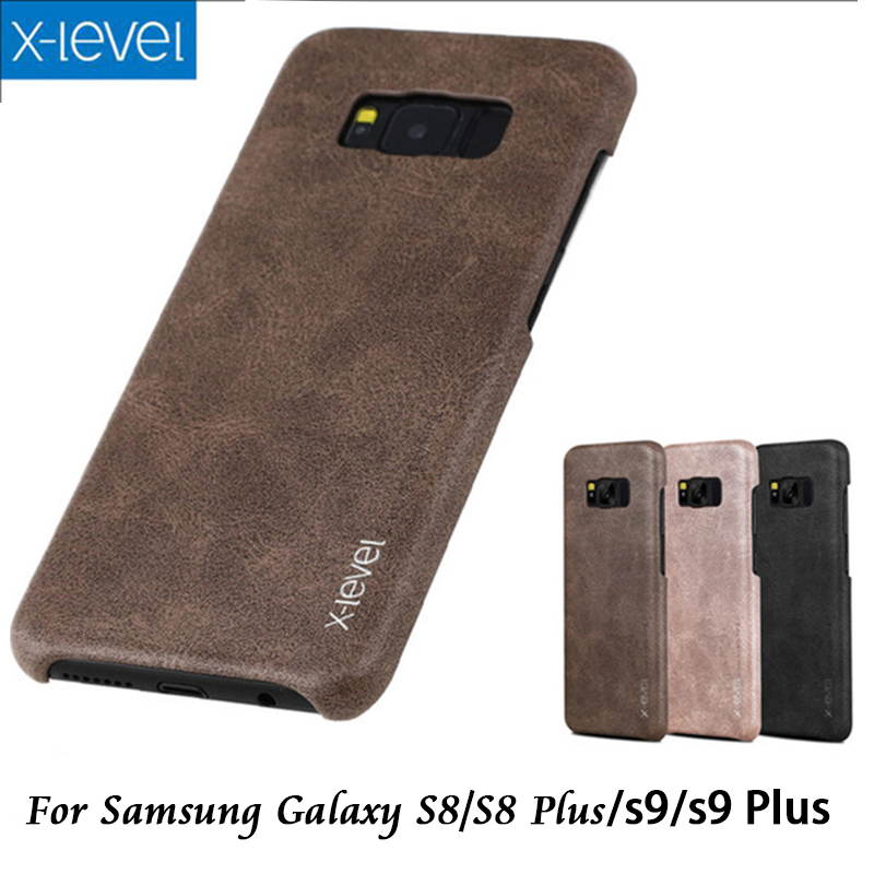 Vintage Style PU Case For Samsung Galaxy S8 Leather Skin Back Hard Case Cover for Samsung Galaxy S8 Plus