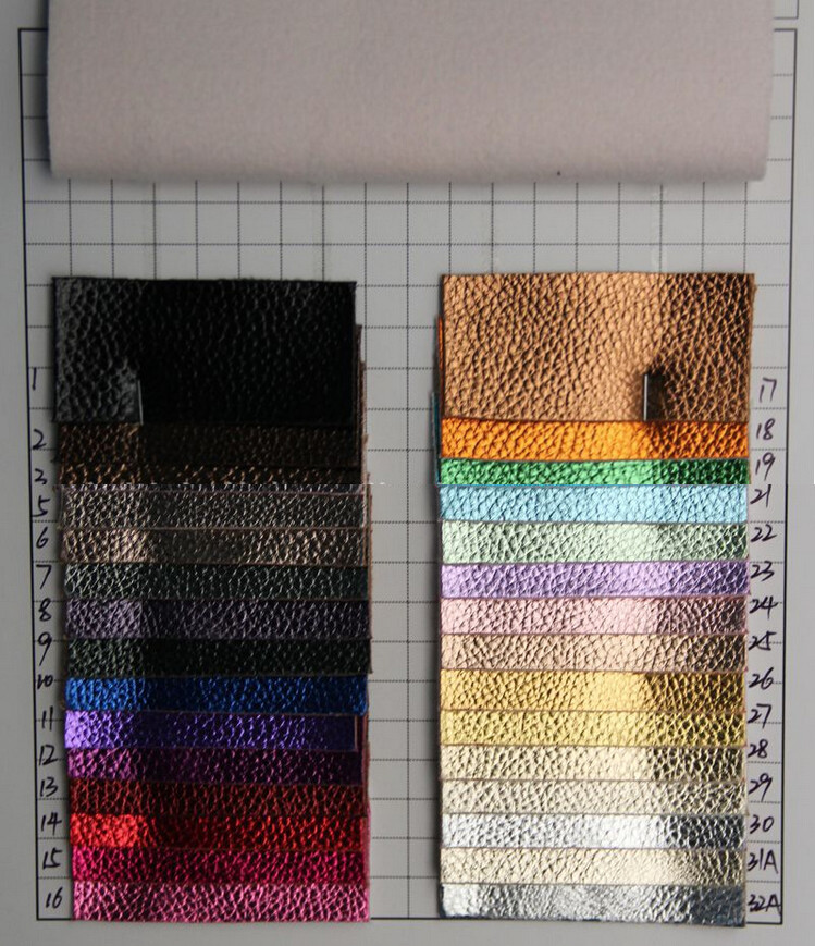 Home Furniture Belts Practical 10 Yards/lot Metal Shiny Embossed Leather/ Synthetic Litchi Grain Pu Leather/ Faux Leather/ For Shoes