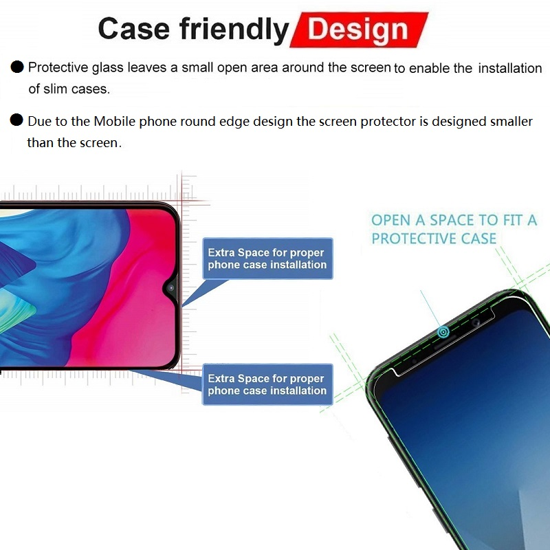 Image 5 - VSKEY 100pcs 2.5D Tempered Glass For Xiaomi Pocophone F1 Mi 6X 5X Play 5s A1 A2 S2 Y2 Y3  8 9Screen Protector Protective Film-in Phone Screen Protectors from Cellphones & Telecommunications