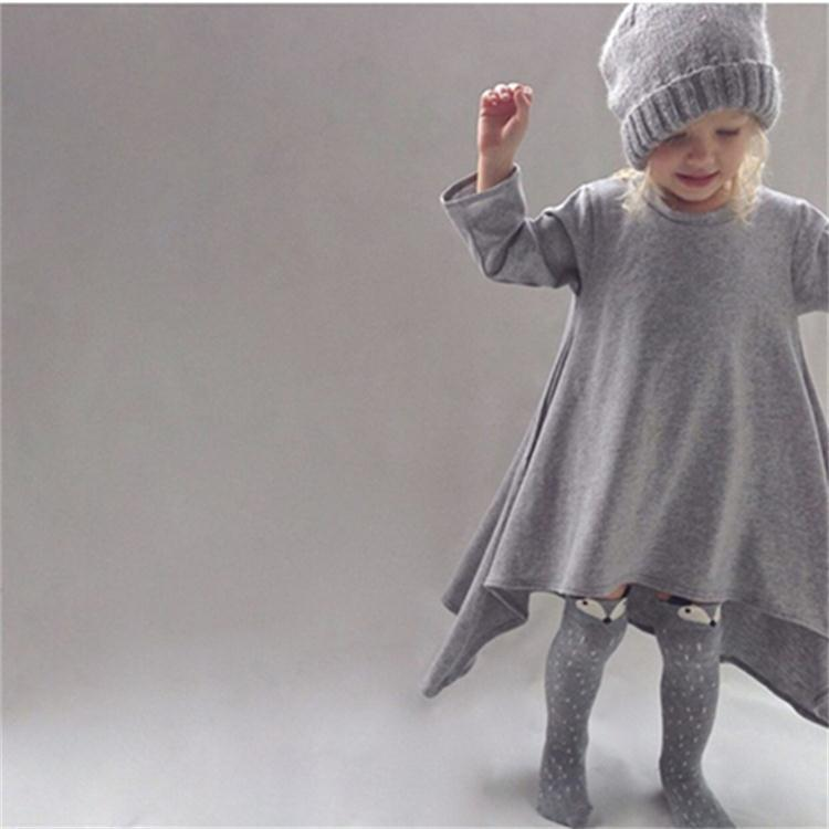 ceaecd4f0 New autumn girls dresses cotton kids children warm clothes long ...