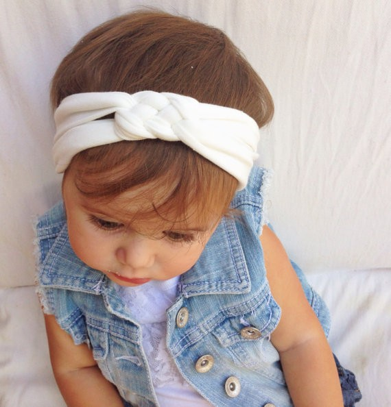 Adult in BambooOrganic Cotton Classic Blue and Aqua for Baby Child Set of Braided Thin Sailor Knot Headbands in Navy Toddler NEW