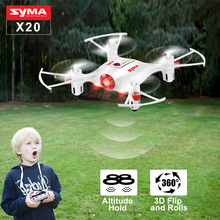 SYMA X20 Drone Quadcopter RC Helicopter Dron 2 4G 4CH 360 Degrees Rolling Headless Mode Hover