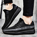 Nova Primavera Verão Unisex Calçados Casuais Dos Homens de Luxo Da Marca Homens Sapatos Baixos Respirável Sapatos Malha Respirável dos homens Tenis Trainer 2017