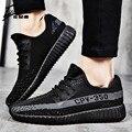 Nueva Primavera Verano Unisex Zapatos Ocasionales de Los Hombres de Lujo Marca Transpirable Hombres Planos de Zapatos Tenis de Los Hombres de Malla Transpirable Zapatos de Entrenador 2017