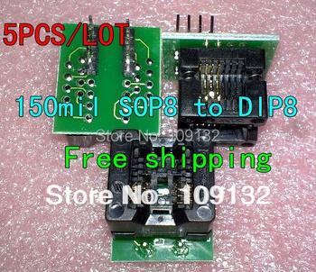 SOP8 się DIP8 SOIC8 do DIP8 SOP8 do DIP8 IC gniazdo programatora gniazdo adaptera do szerokiego 150mil dobrej jakości nowy tanie i dobre opinie Regulator napięcia