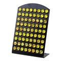 Горячие Продажи 8 мм Emoji Серьга Стад Мода Мультфильм Улыбкой Лицо Серьги DIY для Девочки Подарок 36 Пар/карты