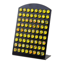 Hot Selling 8mm Emoji Earring Stud Fashion Cartoon Smile Face Earrings DIY for Girl's Gift 36 Pairs / Card