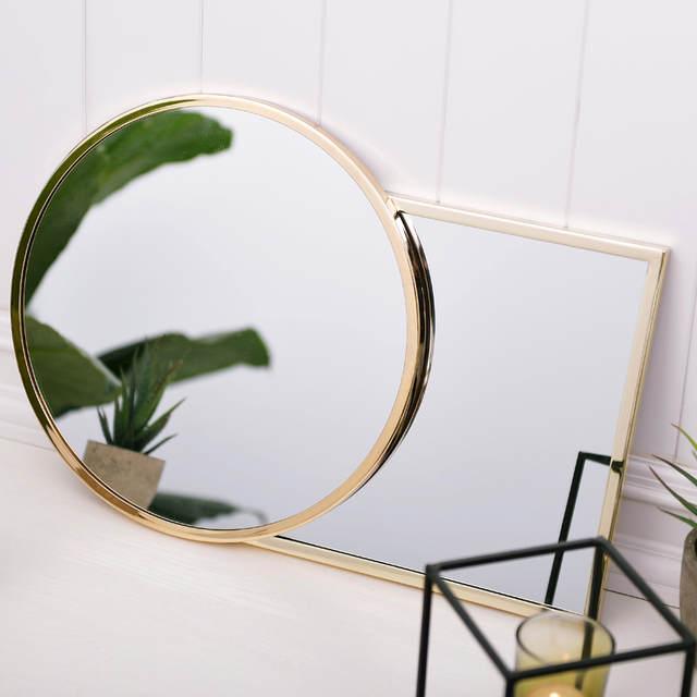 5698f5dbd9179 placeholder ADOUS minimalista Nordic criativo decoração da parede, quadrado  e redondo, espelho de ouro,