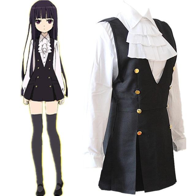 5910a1a84e7 Ину х Boku SS Shirakiin Ririchiyo Косплэй костюм Лолита школьная форма  платье + рубашка + галстук