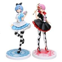 21cm anime figürü Re: farklı bir dünyada yaşam sıfır Ram/Rem in Wonderland eylem şekilli kalıp oyuncak