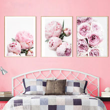 Peony Wall Art Pastel Pink Flowers Digital Prints Download Peonies Floral Rose Minimalist Fashion Instant Botanical(China)