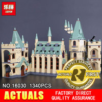 Lepin 16030 1340Pcs Creative Movies Series The Hogwarts Castle Set Children Educational Building Blocks Bricks Toys