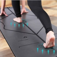 Natural Rubber PU Professional Sport Fitness Mattress Non slip Gym Exercise Aerobics Cushion Keep Fit Pad Lose Weight Yoga Mat