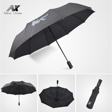 NX Golf Single Layer Windproof Umbrella Three Folding 105cm parasol male Commercial Automatic business umbrella free shipping