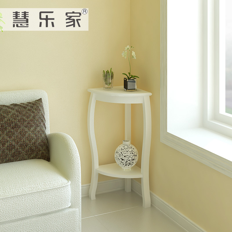 Hui roca korean garden corner living room side table white - Corner tables for living room online ...