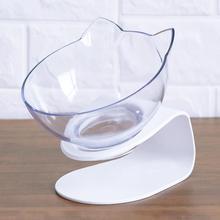 Пластиковая миска для еды щенка в форме кошачьих ушей, нескользящая миска для подачи воды, посуда 209