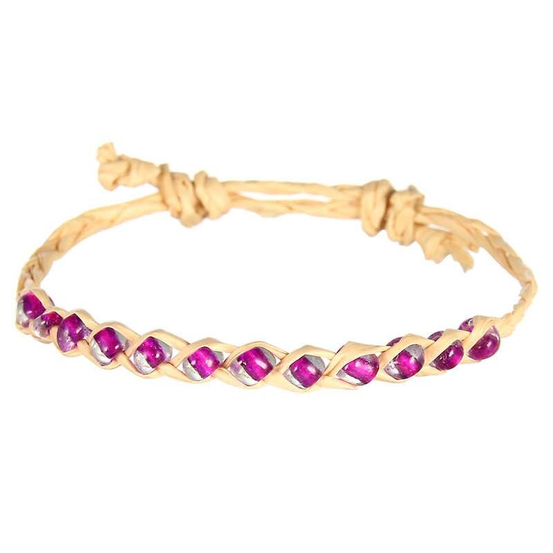 Модные серьги ручной работы подвеска в виде ракушки плетеный браслет соломенные веревки браслеты для женщин девочек детские ювелирные изделия