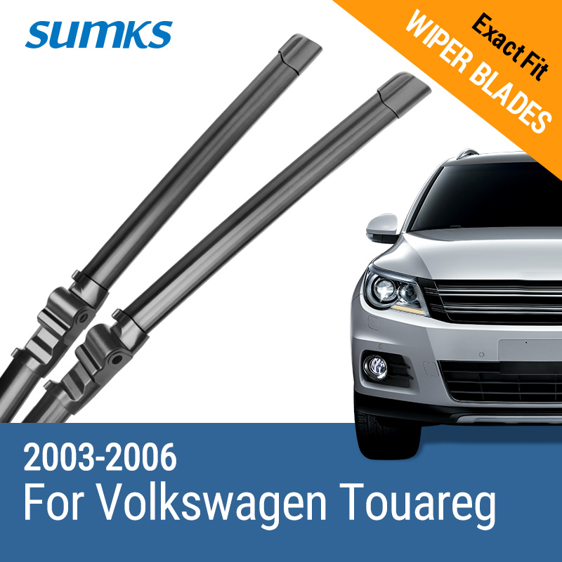 "SUMKS Лязы шклоачышчальніка для Volkswagen Touareg 26 ""& 26"" Fit Side Side Pin"