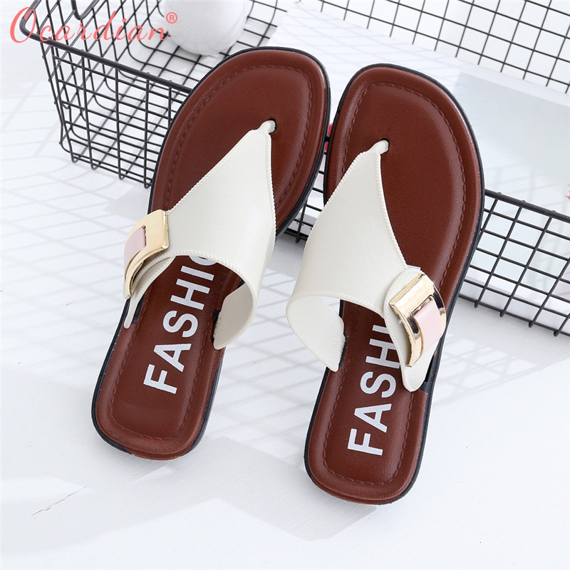 2018 Casual Beach Women Slipper Sandals Summer Home Flat Flip Flops Shoes Optional Size Beach Buty Shoes 2018 new bohemian women sandals crystal flat heel slipper rhinestone chain women casual beach shoes size 34 44