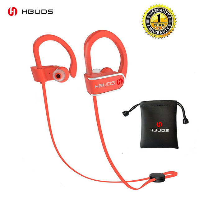 HBUDS H1 Bluetooth Headphone IPX7 Waterproof Wireless Headset Handsfee Sports Earphones With Mic And 7H Playing Time For Phone