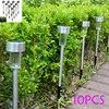 10pcs/Lot Solar panel LED Spike Spot Light Spotlight Landscape Garden Yard Path Lawn Solar Lamps Outdoor Grounding Sun Light