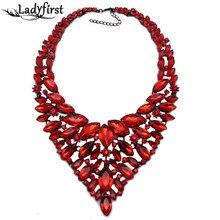Nueva venta Caliente Completo Crystal Gem Collar de Lujo Noble Nupcial En Forma de V Vestido de Novia Rhinestone Collar de la Declaración de B4418