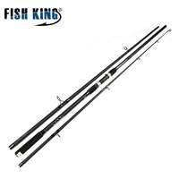 FISH KING 99% Carbon CW 3.5LBS 3SECS Standard 3.6m 3.9m Contraction Length 128CM 137CM Surf Cast Carp Carbon Rod