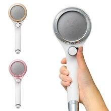 High Pressure Water Saving Shower Head Pressurized Hand Showerone Button Switch Spray Nozzle _WK
