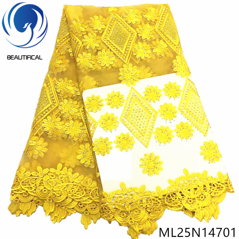 BEAUTIFICAL african yellow tulle lace french cord net lace fabric for dress embroidery rhinestones french lace ML25N147BEAUTIFICAL african yellow tulle lace french cord net lace fabric for dress embroidery rhinestones french lace ML25N147