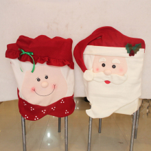 2 Types Mr Mrs Santa Claus Kitchen Chair Covers