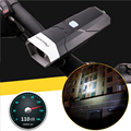 Bright LED Flashlight For Bicycle With Horn Function 3 Models Long Lasting Work LED Bike Bicycle Light With 3 aaa Battery