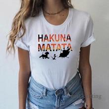 Hakuna Matata Shirt Women Harajuku Ullzang the lion king T-shirt Femme Homme Summer Tshirt Fashion