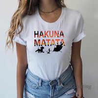 Hakuna Matata chemise femmes Harajuku Ullzang le roi lion T-shirt Femme Homme été T-shirt haut tendance T-shirt Femme