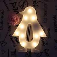 Penguin Shaped Fairy Night Light ABS Plastic Led Table Desk Lamp Room Atmosphere Wedding Party Favors