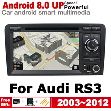 7 HD IPS DSP Stereo Android 8.0 up Car DVD GPS Navi Map For Audi RS3 8P 2003~2012 MMI 2 DIN multimedia player radio WiFi System ips android 2 din car dvd gps for audi a3 s3 8p 2003 2012 mmi navigation multimedia player stereo radio wifi system