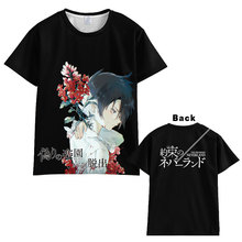 Hot New The Promised Neverland T-shirt Men Women Short Sleeve Summe  dress Cosplay Costumes Tops Unisex Harajuku t shirt