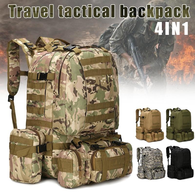 1 pc hommes sac de voyage grande capacité imperméable Camouflage imprimé armée sac à dos pour Camping BB55