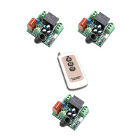 AC220V RF Wireless Mini Switch Relay Receiver Remote Controllers Lighting Led Lamp ON OFF Learning Switch