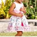 Best seller drop shipping vestido summerdress Infant Kids Girls Cartoon Print Strap Dress Pleated Leisure Princess Dress Feb714