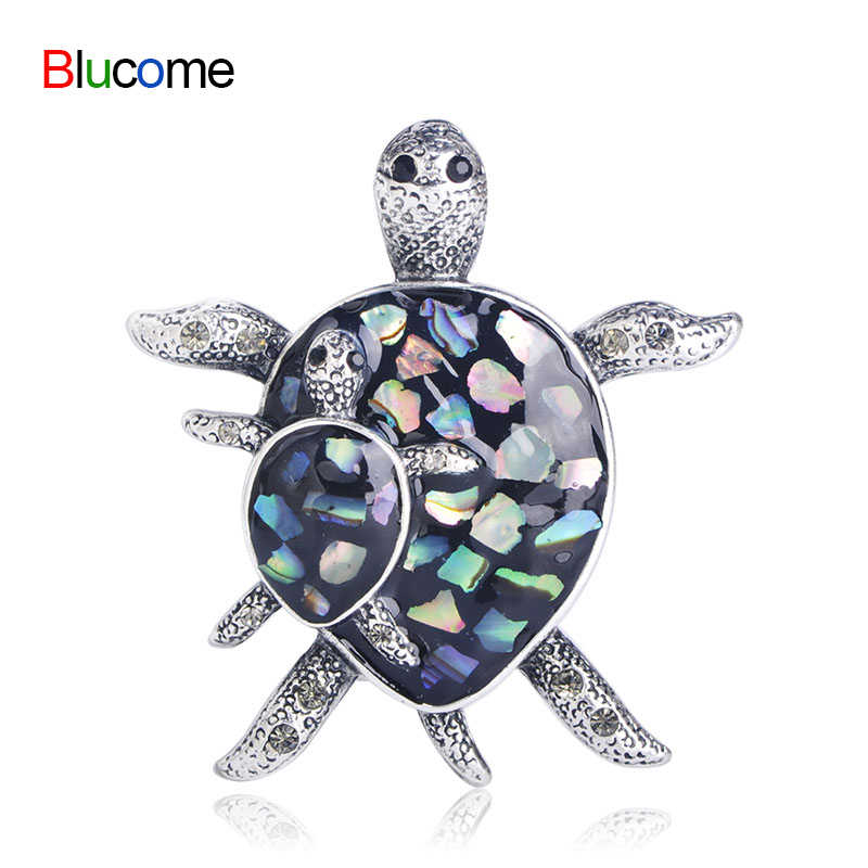 Fashion Animal Brooch Sea Turtle female Jewelry Accessories Abalone Shell Brooches For Kid Women Collar Sweater Scarf Clip Gift