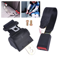 DWCX 2 Point Universal Seat Belt Retractable Seat Safety Lap Belt Adjustable Security Strap Buckle for VW Golf Mazda Hyundai