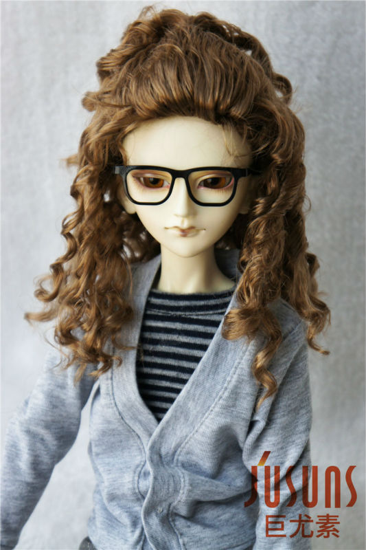 JD243 1/4  MSD synthetic mohair doll wigs 7-8inch Teddy Bear curly BJD hair style 70cm ladies wigs ice and fire song dragon mother synthetic hair
