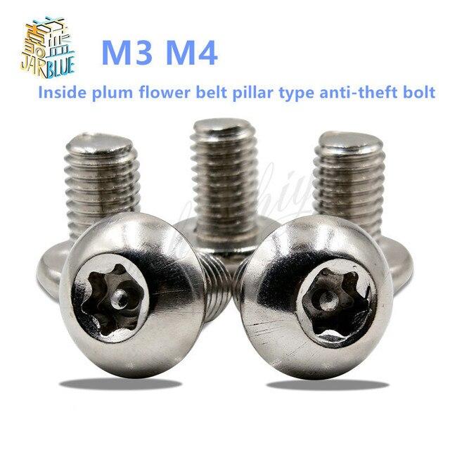 50 Pc Lot Sus304 Inside Plum Flower Belt Pillar Type Anti