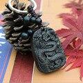 Новые Моды llaveros Китайский Дракон резного дерева BlackWood Резьбой Брелок повезло Кулон Статуя Подарок Автомобиль Брелок