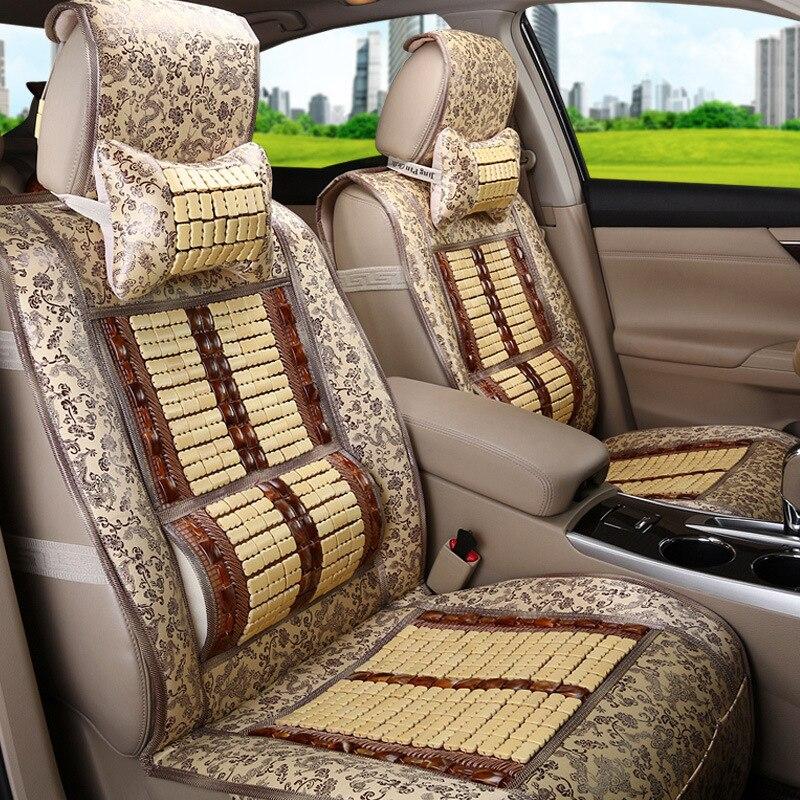 Bamboo seat cushion Car seat cover four seasons universal car bamboo silk summer breathable cool pad
