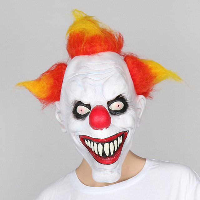 collection joker latex mask halloween decorations props creepy costume scary clown mask face festive party supplies