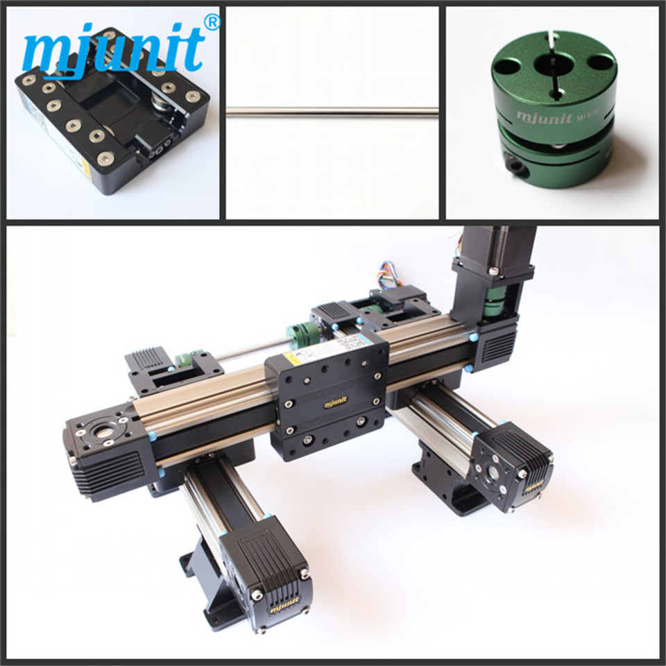 toothed belt drive rail guideway manufacturer motorized Stepper Motor Positioning linear stage belt driven linear slide rail belt drive guideway professional manufacturer of actuator system axis positioning