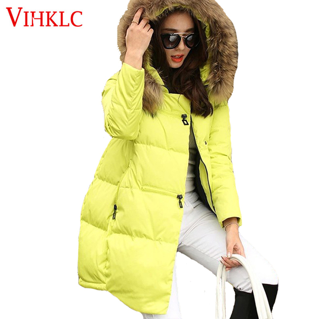 7c6e747f796 New Coats & Jackets 2018 Parka Hooded Winter Jacket Women Artificial Fur  Collar Winter Coat Women Zipper Women's Jacket G319