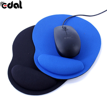 EDAL New Wrist Protect Optical Trackball PC Thicken Mouse Pad Support Wrist Comfort Mouse Pad Mat Mice for Game 2 Colors(China)